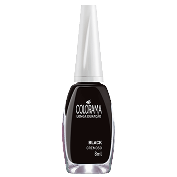 ESMALTE COLORAMA CREMOSO BLACK 8ML