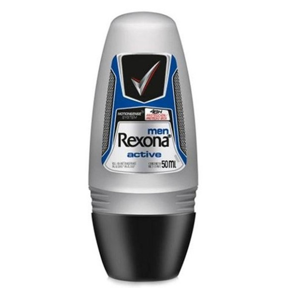 DESODORANTE REXONA ANTITRANSPIRANTE ROLL ON MEN ACTIVE 50ML