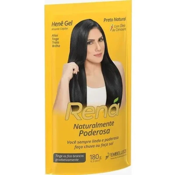 HENÊ GEL RENÁ PRETO NATURAL 180G